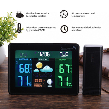 Multifunctional Wireless Weather Clock Digital Thermometer Hygrometer Electronic Temperature Humidity Meter With Calendar
