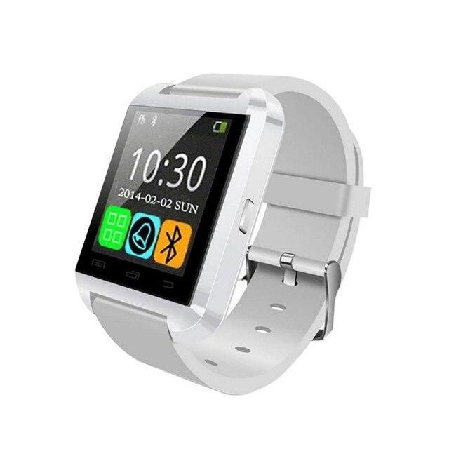 457eecd0873 U8 Relógio De Pulso Inteligente Bluetooth Assista Smartwatches Notificação  de Mensagem para Android IOS Smartphone Relógios