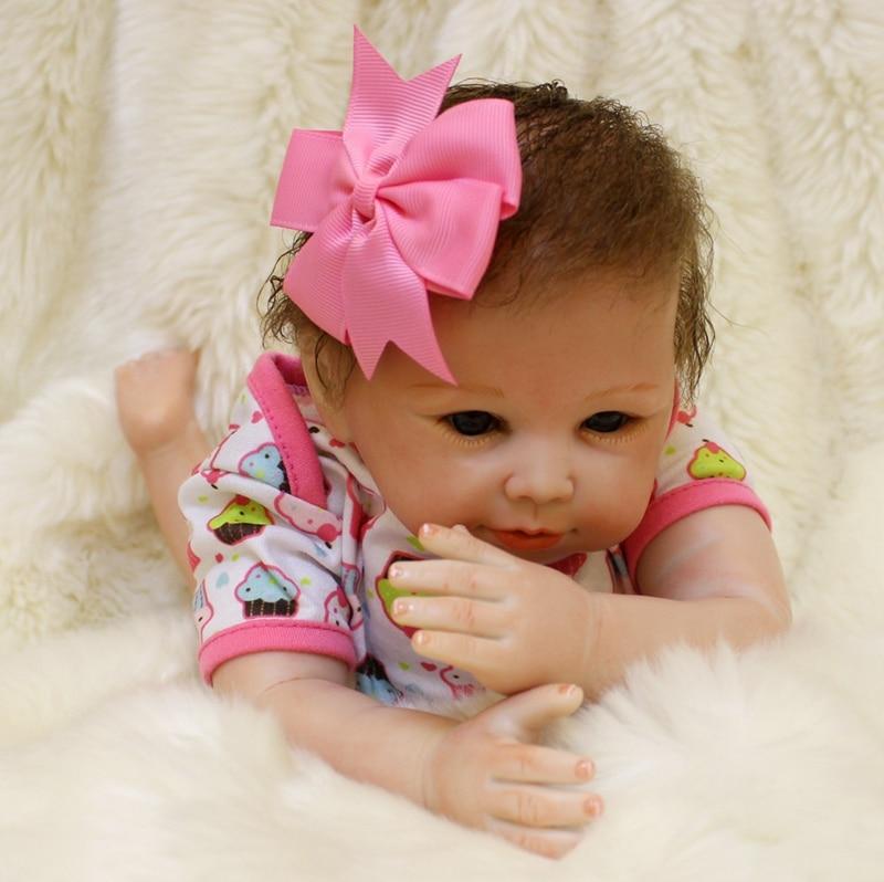 NPK creative children gift toy doll reborn 20 silicone reborn baby dolls rooted hair bebes reborn