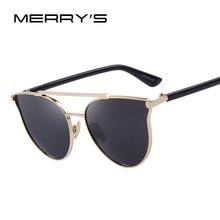 MERRY'S Fashion Women Cat Eye Sunglasses Women Classic Double-Bridge Shades UV400 S'8092