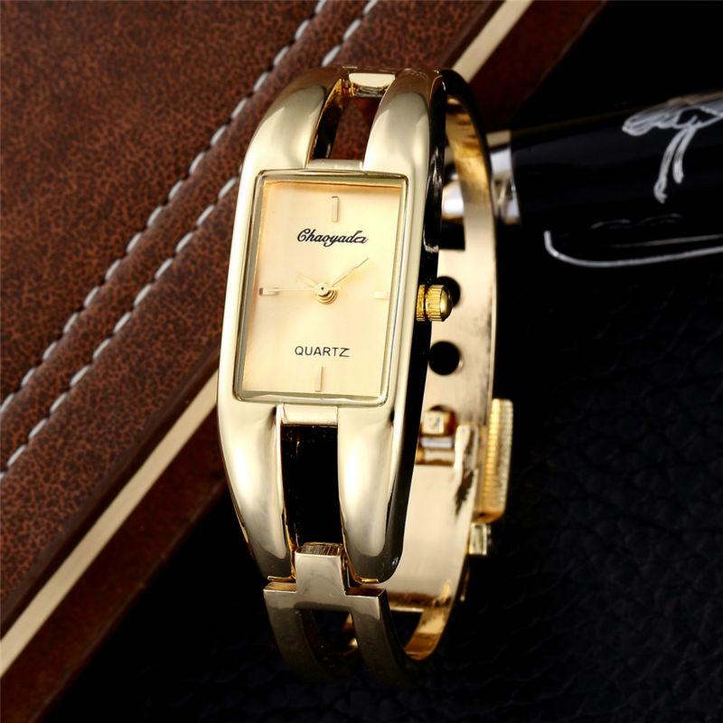 Gold Casual Watch Luxury Brand Bracelet Watches Original Women Quartz-Watch Clock Ladies Summer Red Dial Stainless Steel Band