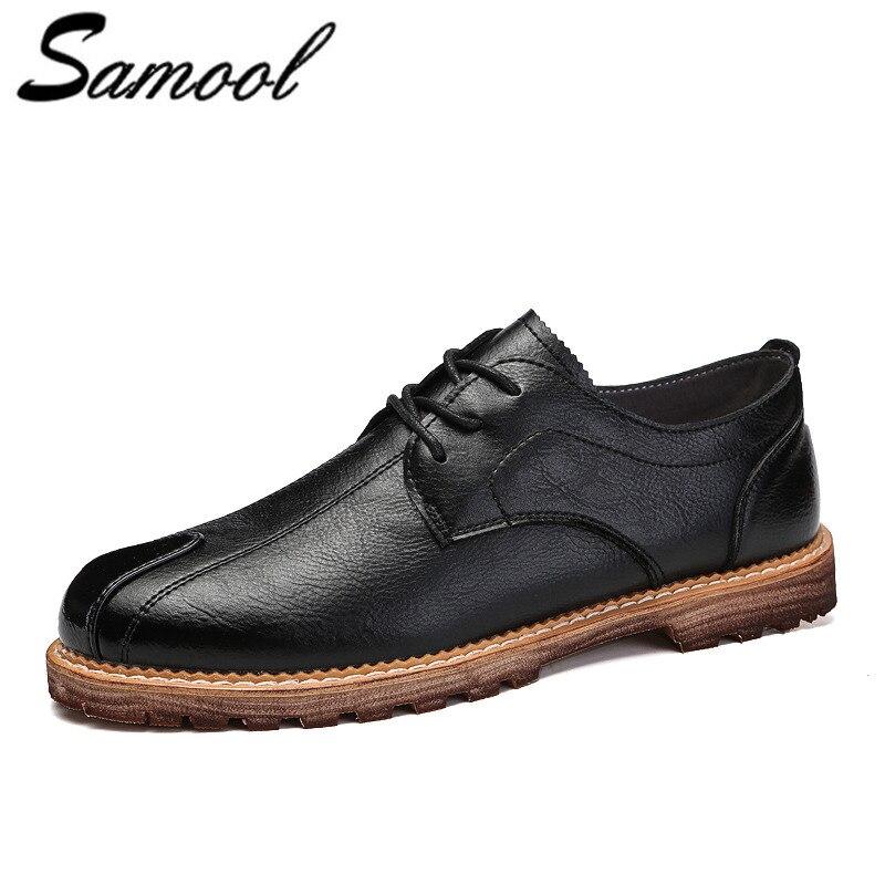 Men Shoes Fashion Comfortabl Casual Shoes Denim Breathable Flats genuine Leather Men Dress Shoes Oxfords Shoes men k4