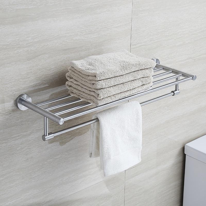 Blh 810 brushed nickel stainless steel bathroom towel rack Bathroom towel stands brushed nickel