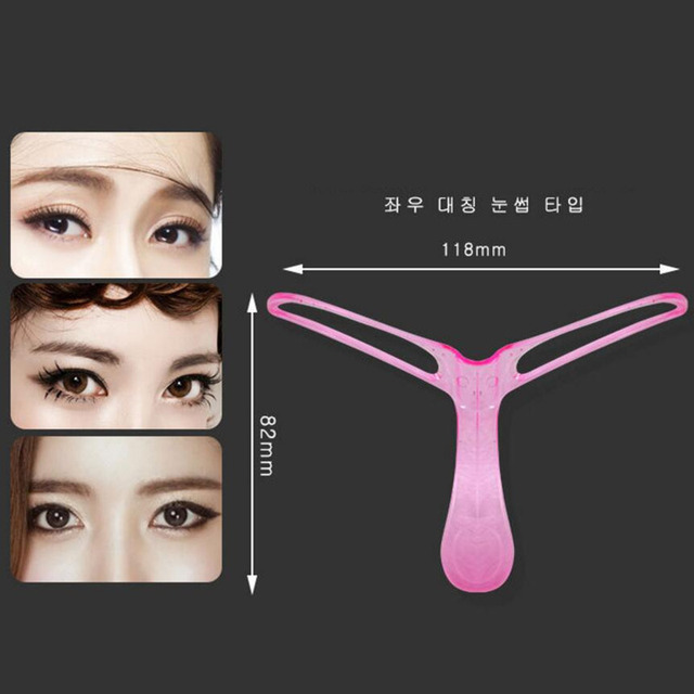 4Pcs Brand Eyebrow Stencils Shaping Grooming Eye Brow Make Up Model Template Reusable Design Eyebrows Styling Beauty Tool XN571M 5