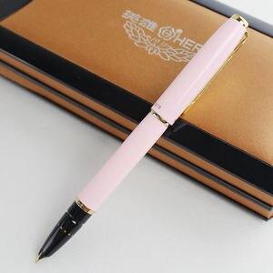 Image 4 - Оригинальные ручки Hero 1079 ультратонкая ручка 0,38 мм Студенческая слово офисная бизнес Подарочная коробка черный розовый синий элегантные дамы Бесплатная доставка