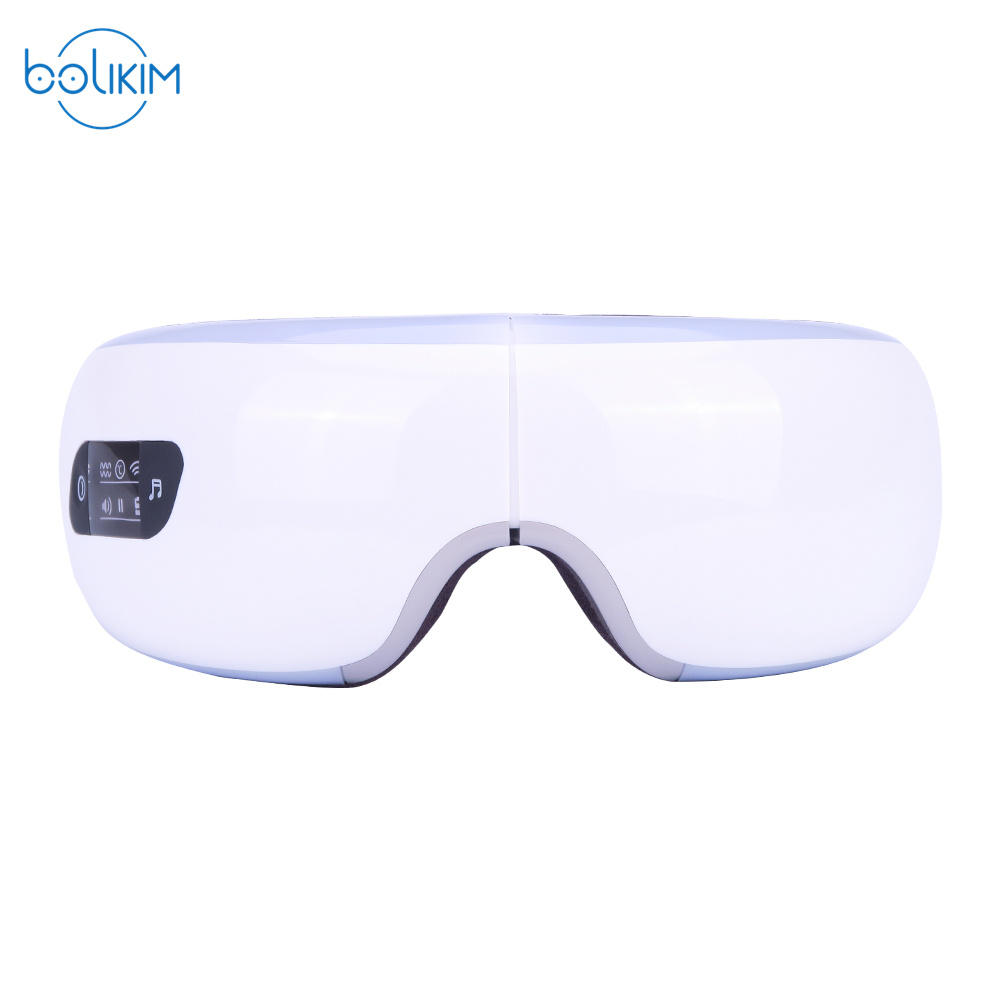 BOLIKIM Electric Air Pressure Eye Massager With Mp3 Vibration Magnetic Heating Therapy Massage Device.Myopia Care Glasses free shipping new air pressure eye massager with mp3 6 functions dispel eye bags eye magnetic far infrared heating eye care