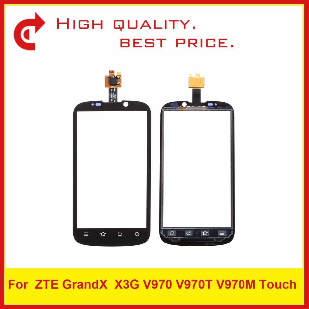 """10Pcs/Lot High Quality 4.3"""" For ZTE Grand X X3G V970 V970M Digitizer Touch Screen Panel Sensor Outer Glass Lens Free Shipping"""
