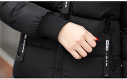 Women's Winter Jacket Long Cotton Padded Parkas Ladies Fur Collar Plus Size Cotton Jacket Thick Female Winter Clothes  CH419 5