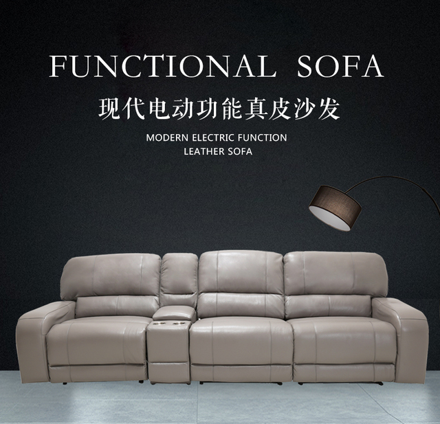 US $748.6 5% OFF|Living Room Sofa set 4 seater sofa recliner electrical  couch genuine leather sectional sofas muebles de sala moveis para casa-in  ...