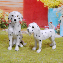 large Dalmatian hard model spotted dog polyethylene furs handicraft Figurines Miniatures home decoration toy gift a2891