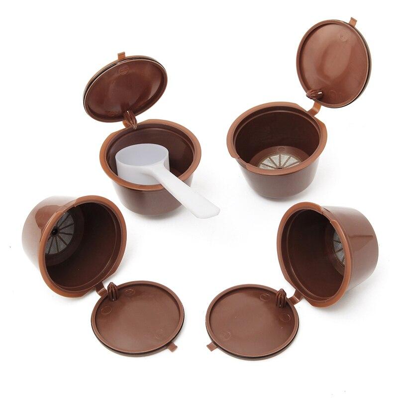 Reusable coffee filter use 150times Coffee Capsule Plastic Capsule Refillable Reusable Compatible Nescafe