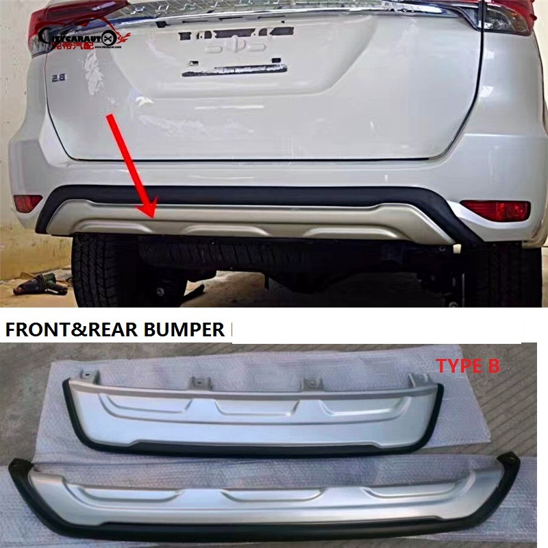 CITYCARAUTO front bumper REAR BUMPERS Rear Bumper Protector Diffuser Spoiler FIT FOR FORTUNER 2015 -2017 body kits front bumper parts rear diffuser car accessories for ford mustang coupe 2015 2017