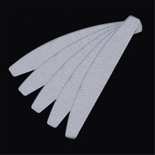 25PCS 100/180 Pro Nail File Buffers Grinding Sanding Curved Emery Board Grey Sandpaper Half Moon Manicure Nail Care Tool