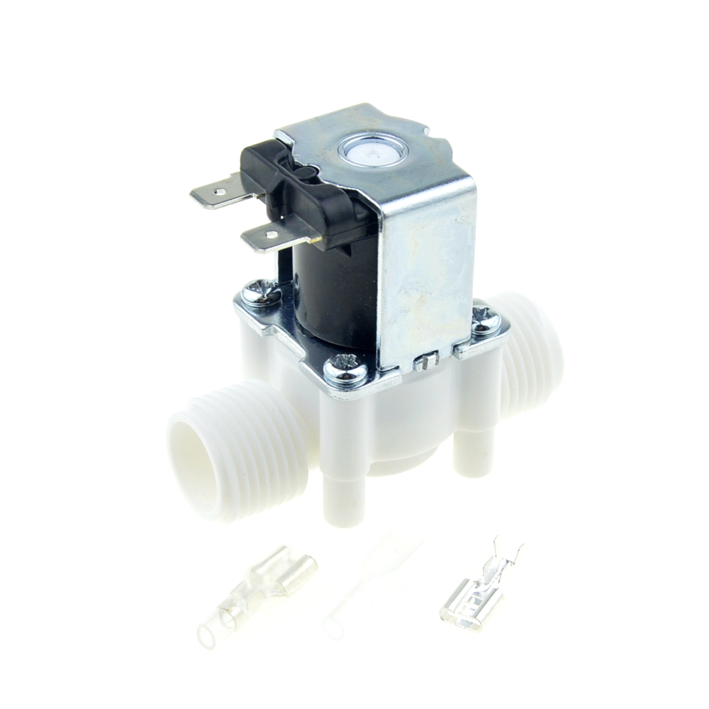 1/2 BSP Male Thread Electric Plastic Solenoid Valve 12V 24V 220V Normal Closed Inlet Water Valve RO Water Reverse Osmosis System
