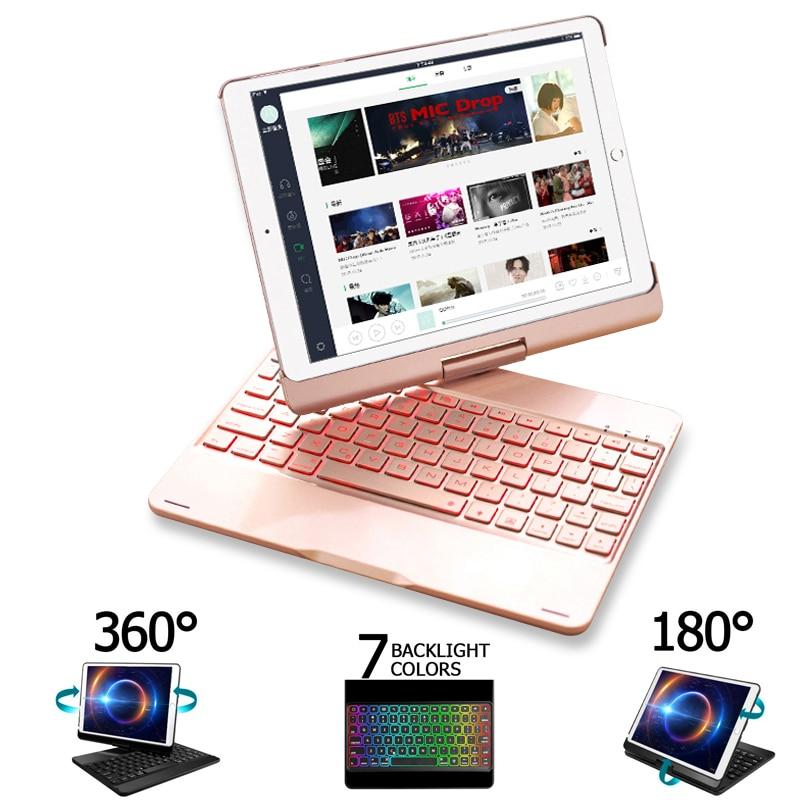 Funda For IPad Air 2 Air 3 Air 1 Case Keyboard 7 Color Backlit 360 Rotation Bluetooth Keyboard Cover For IPad Air 3 10.5 2019