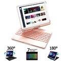 Чехол-клавиатура Funda для iPad Air 2 Air 3 Air 1  7 цветов  с подсветкой  вращение на 360 градусов  чехол-клавиатура Bluetooth для iPad Air 3 10 5  2019