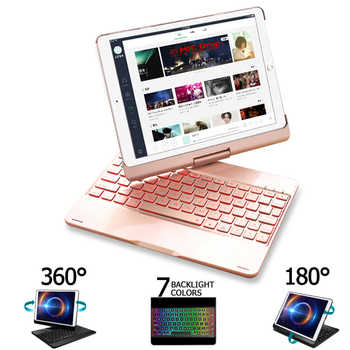 Funda For iPad Air 2 Air 3 Air 1 Case Keyboard 7 Color Backlit 360 Rotation Bluetooth Keyboard Cover For iPad Air 3 10.5 2019 - DISCOUNT ITEM  20% OFF All Category