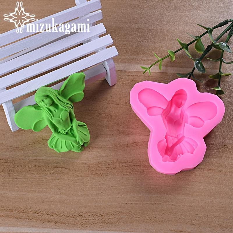 1pcs UV Resin Jewelry Liquid Silicone Mold 3D Cartoon Fairy Wings Maiden Mold Resin Molds For DIY Jewelry Accessories