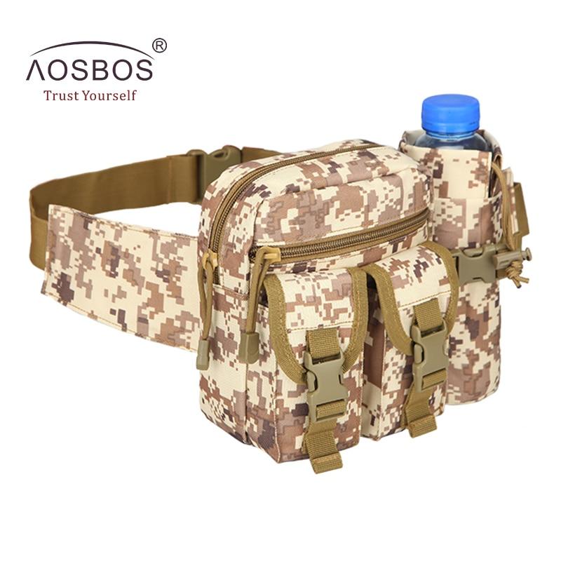 Prix pour Aosbos Sports de Plein Air Sacs Militaire Tactique Sacs Camouflage Taille Sacs Randonnée Escalade Camping Sacs Avec Porte-Bouteille D'eau