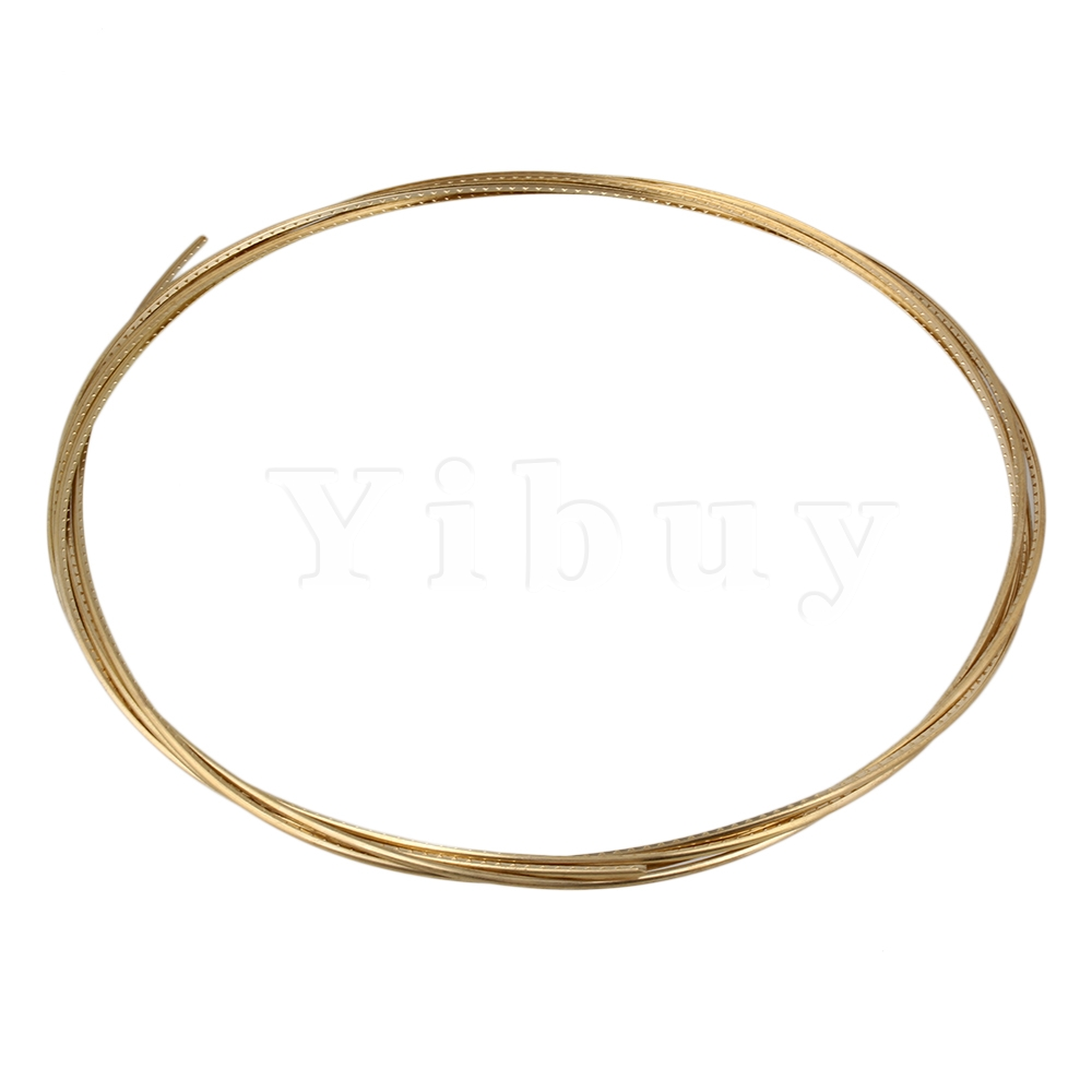yibuy gold 8ft guitar fret wire for electric guitar brass in guitar parts accessories. Black Bedroom Furniture Sets. Home Design Ideas