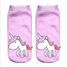 Girls' Unicorn Printed Ankle Socks