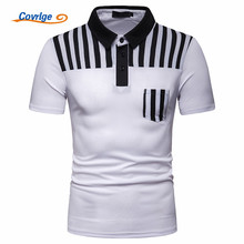 Covrlge Fashion Summer Short Sleeve Polo Shirt Men Brand British Style Homme Causal Slim Fit Camisa Masculina MTP118