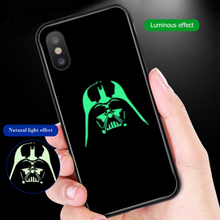 ciciber Phone Case For iphone 11 Pro Max XS MAX X XR Luminou Glass Cover for Iphone 7 8 6 6S Plus Star Wars Marvel Venom Coque