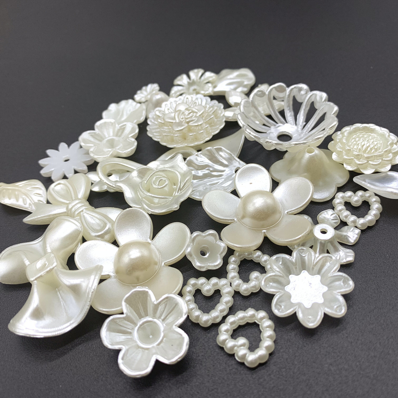25 Styles Jewelry Accessories Acrylic Beads Ivory Pearl Beads Loose Hole Beads Jewelry Accessories Beads Jewelry Making DIY