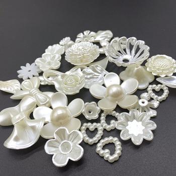 25 stylów biżuteria akcesoria akrylowe koraliki kości słoniowej perły koraliki luźne koraliki z dziurką biżuteria akcesoria koraliki tworzenia biżuterii DIY tanie i dobre opinie IMgnijuoy Elementy dystansowe Acrylic accessories 0 1cm Ocena biżuteria Fashion