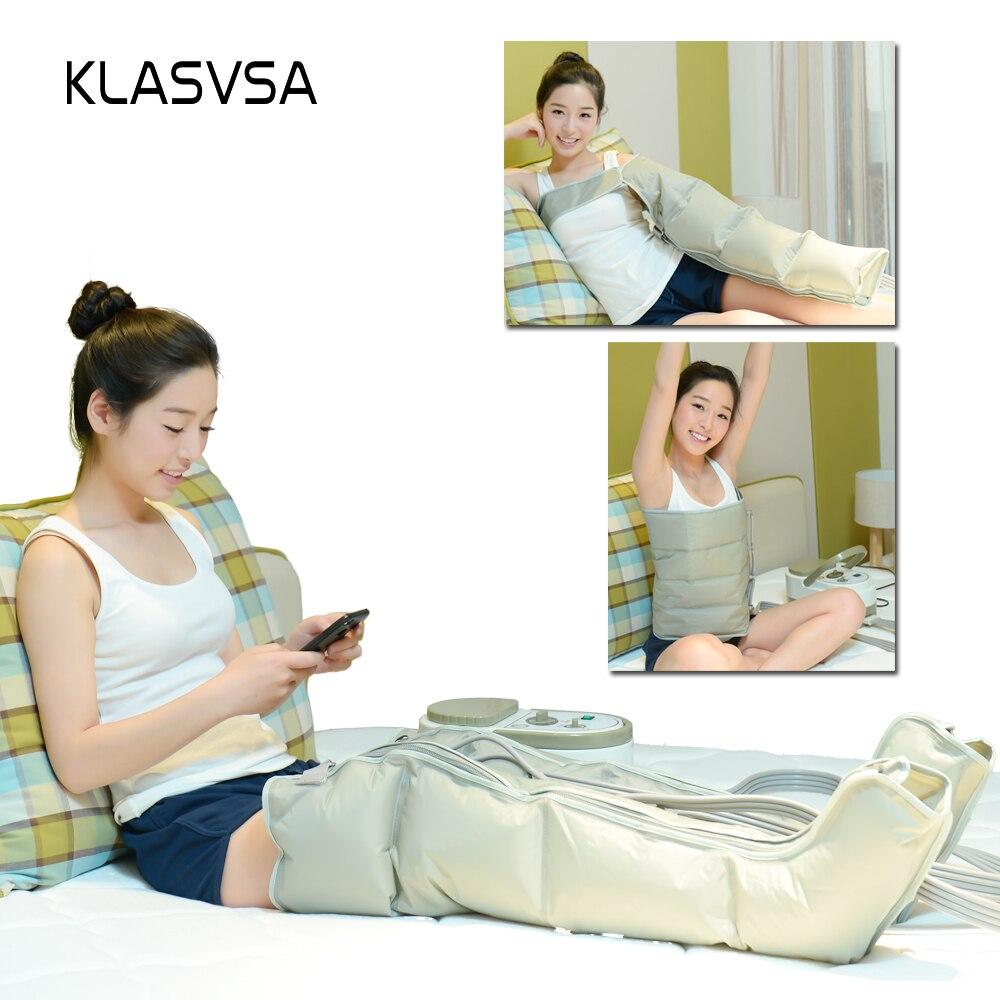 KLASVSA Électrique Air Compression Jambe Pied Masseur Vibration Infrarouge Thérapie Bras Taille Pneumatique Air Wraps Détendre Soulagement de La Douleur