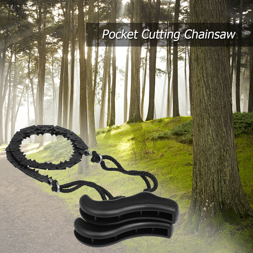 Image 5 - Folding Chain Saw Jagged Chainsaw Manual Steel Wire Saw Hand Camping Hiking Hunting Emergency Survival Tool Outdoor Tools-in Outdoor Tools from Sports & Entertainment