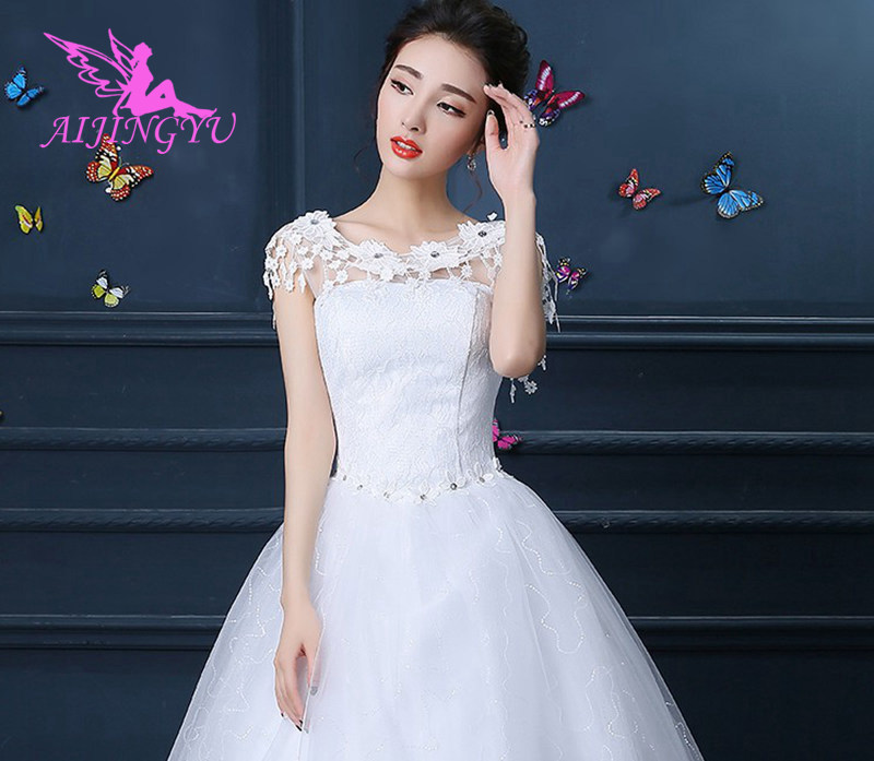 AIJINGYU 2018 sexy free shipping new hot selling cheap ball gown lace up back formal bride dresses wedding dress FU128