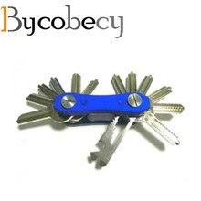 BYCOBECY Car Key Holder Chain Smart Key Wallets Ring Housekeeper Oxide Aluminum DIY EDC Pocket Key Organizer Smart Collector