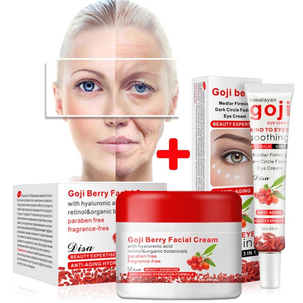 Goji Crème Blanchissant crème pour le visage Sérum pour le visage Anti-rides crème Hydratant pour le visage + masque pour les yeux patches pour l'œil