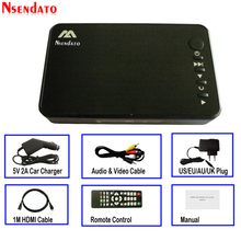 Мини Full HD медиа мультимедийный плеер Autoplay USB внешний HDD медиаплеер с автомобильным зарядным устройством HDMI VGA AV для SD U диск MKV RMVB