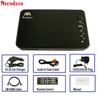 Mini Full HD Media multimedia Player Autoplay USB External HDD SD U Disk Media Player With Car Charger HDMI VGA AV FOR MKV RMVB