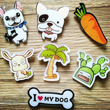 Brooch Pins Brooches for Women Acrylic Bulldog Husky Brooches Wholesale Fashion Charm Costume Brooch Pins for Girl Badge Gift(China)