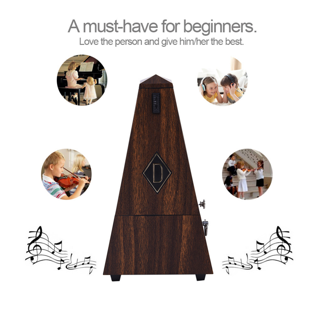 Tower-shaped Mechanical Metronome for Piano Guitar Bass Violin and Other More Musical Instruments 40-210 BMP Support Wholesale cherub wsm 330 mechanical metronome for guitar violin piano zither