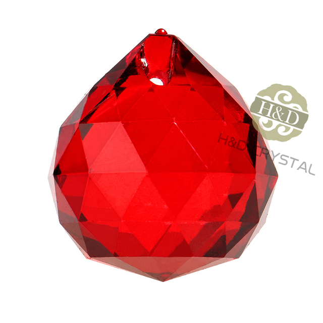 5pcslot red faceted glass crystal chandelier parts pendant prisms 5pcslot red faceted glass crystal chandelier parts pendant prisms lighting ball suncatcher wedding fengshui aloadofball Choice Image