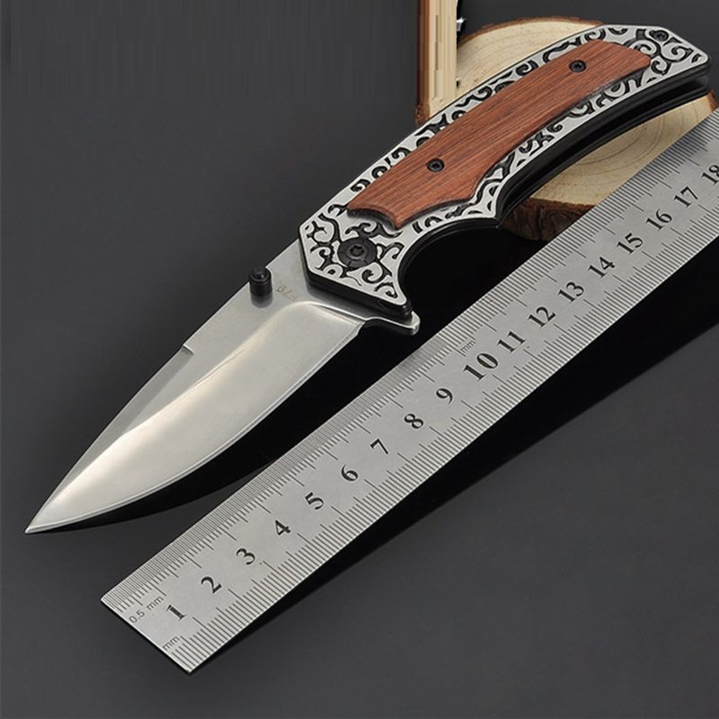 Folding Knife D2 Steel Outdoor Camping Hunting Pocket Kitchen Knives EDC Tools Knives Hunting Knife Survival in Knives from Tools