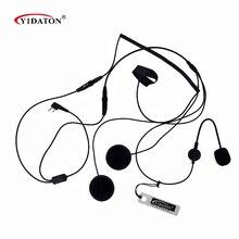 1PC Hot 2 Pin Finger PTT Motorcycle Helmet Headset Microphone for Walkie Talkie For Kenwood Baofeng Retevis TYT Radio