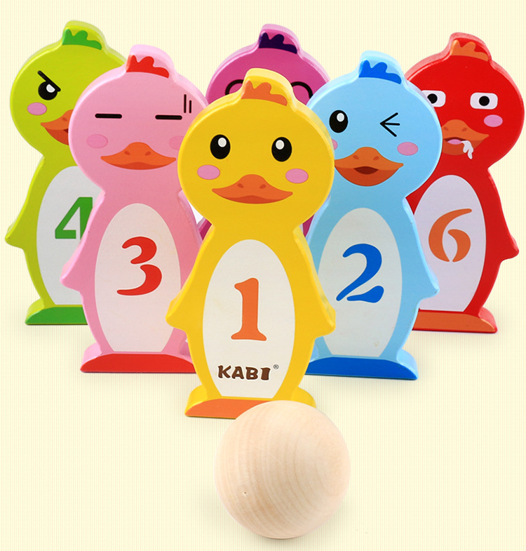 Free Shipping Kids Cartoon Animal Fun Bowling Game Toys, Intelligent Parent Child Interaction Enlightening Toy, Classic Toys