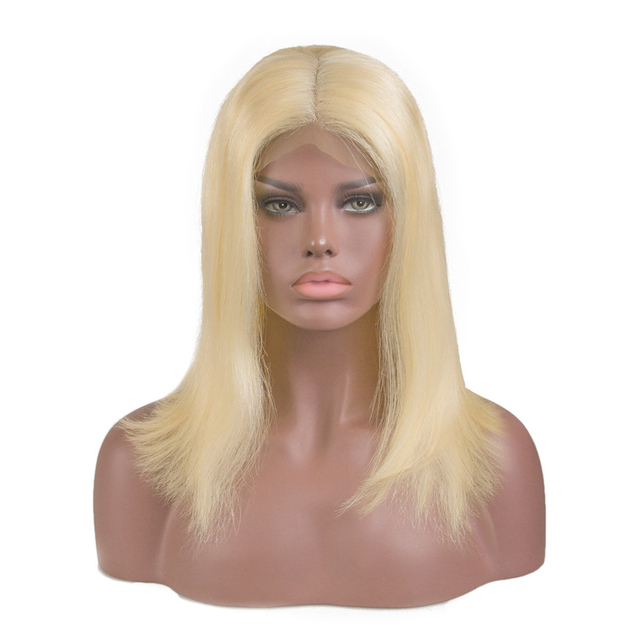 Blonde Lace Front Wig Brazilian 613 Short Bob Lace Front Human Hair Wig
