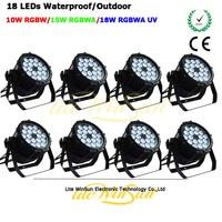 Litewinsune LED PAR 18*18 Вт 6in1 номинальной может rgbwa UV LED Disco Свадебные Театр стирка Освещение открытый IP65