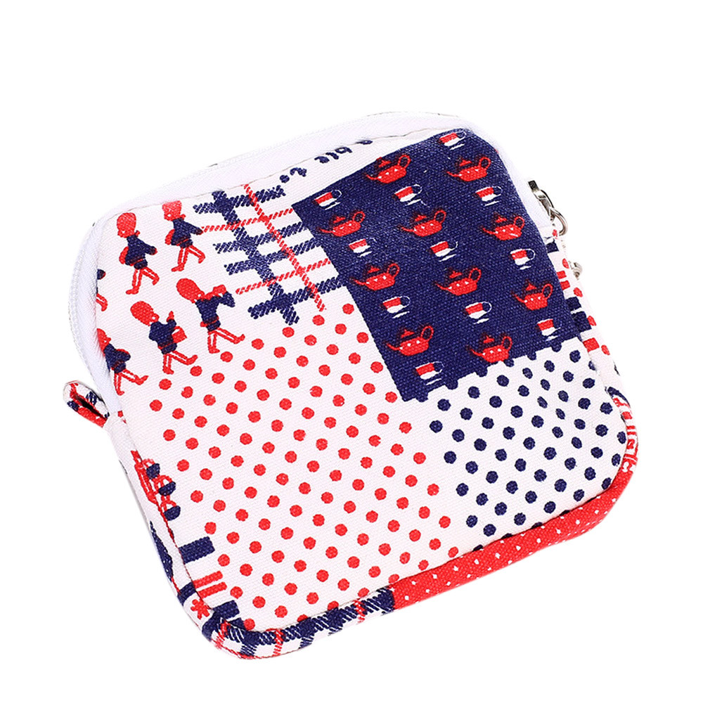 Women Girl Cute Sanitary Pad Organizer Holder Napkin Towel Convenience Bags Small Bags Portable Coin Bags For Shopping maison fabre best deal new fashion women cute sanitary pad organizer holder napkin towel convenience mini coin bags gift 1pc