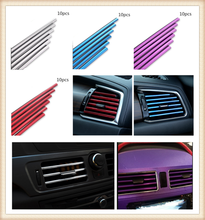 car parts air conditioning outlet decorative strip clip modified personality for Toyota FJ Cruiser RAV4 CROWN REIZ PRIUS
