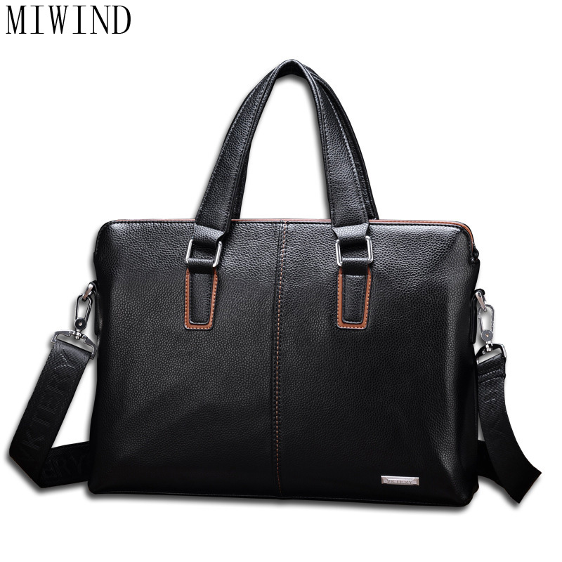 MIWIND  Mens Casual Shoulder Bags Male Business Briefcase PU Leather Messenger Computer Laptop Handbag Travel Bags  TSD975MIWIND  Mens Casual Shoulder Bags Male Business Briefcase PU Leather Messenger Computer Laptop Handbag Travel Bags  TSD975