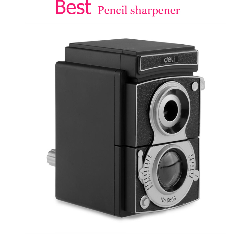 Creative Children Deli Manual Adjustable Pencil Sharpener Cute  Hand Machine Mechanical Stationary Office School  sharpeners