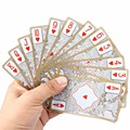 Waterproof Transparent PVC Poker Gold-plated Gold Foil Plastic Playing Cards Dragon Totem Card Novelty Magic Trick