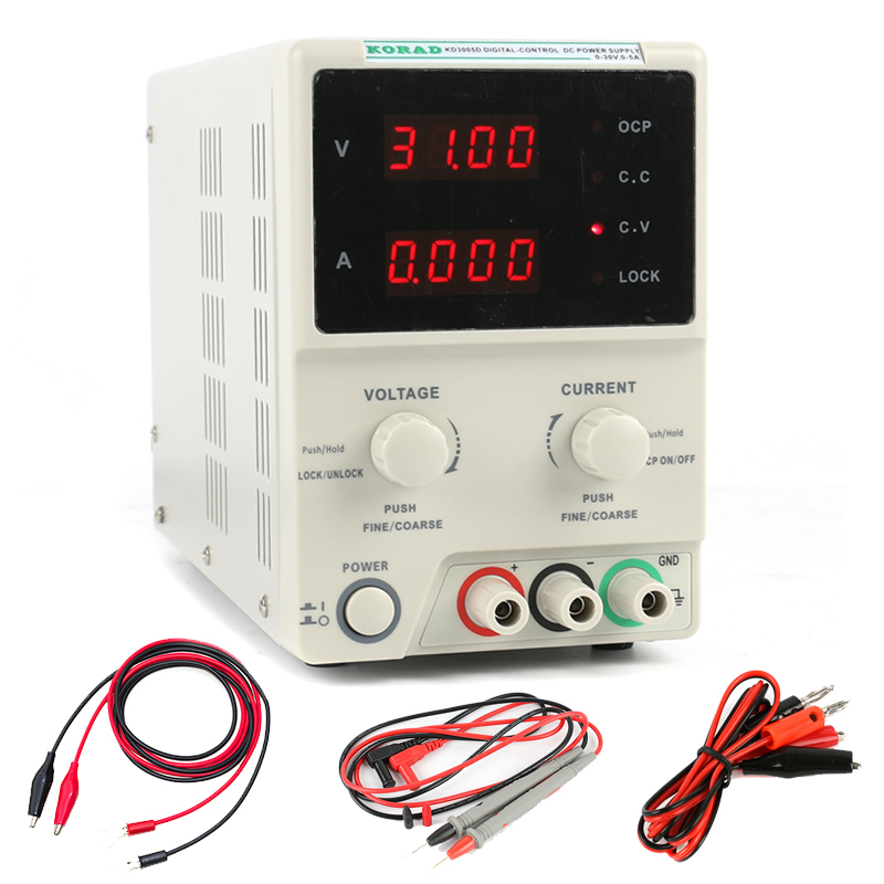 KD3005D Adjustable High Accuracy Programmable DC Power Supply 30V 5A Digital Laboratory Grade Power Supply Phone